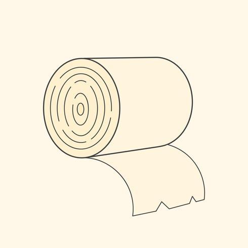 Toalettpapper Vektorillustration för T-shirt, Etiketter, flygblad vektor