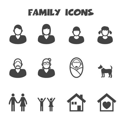familj ikoner symbol vektor