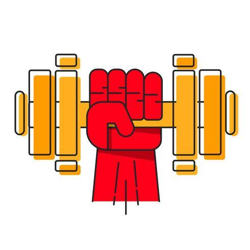 Logo för tungvikt Gym eller Fitness Gym, Vector Logo.