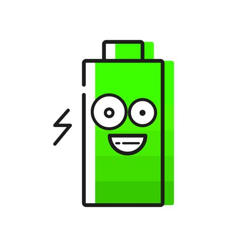 Batteri Ikon På Vit Bakgrund För Din Design vektor