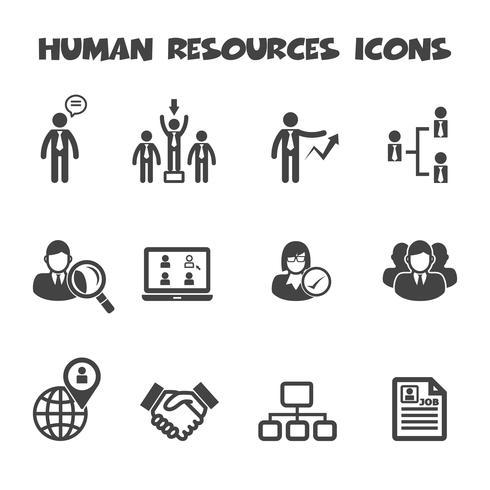 mänskliga resurser ikoner vektor