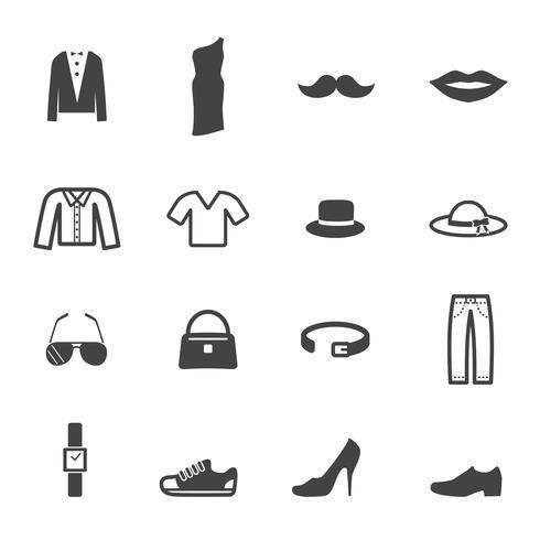 Symbole für Mode und Accessoires vektor
