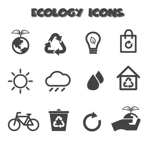 ekologi ikoner symbol vektor
