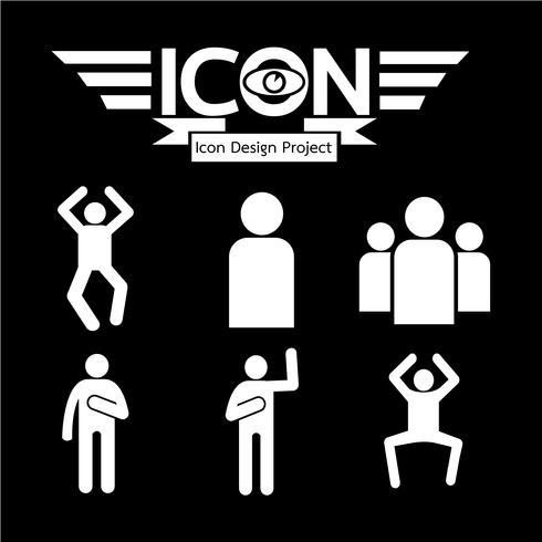 Menschen Symbol Symbol Zeichen vektor
