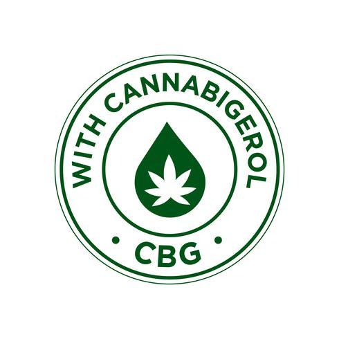 Med Cannabigerol CBG ikon vektor
