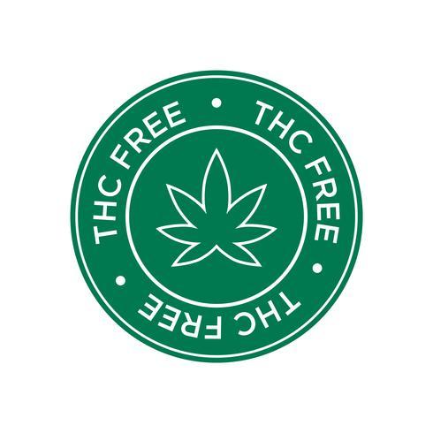 THC Gratis ikon. Grön och rund symbol. vektor