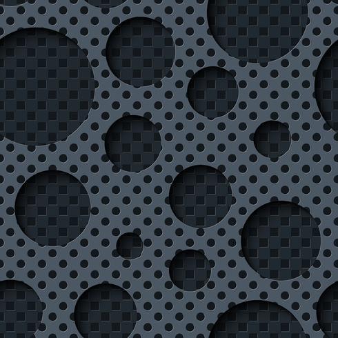Tvåskiktet metallplåt med mörk sömlös bakgrund. vektor