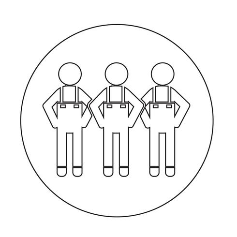 People Icon Symbol Zeichen vektor