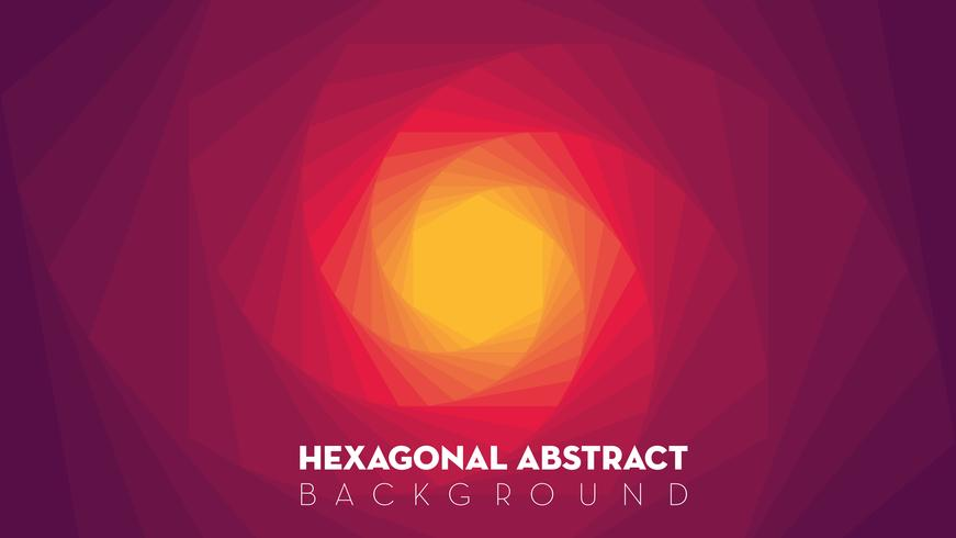 Sexkantig abstrakt bakgrund vektor