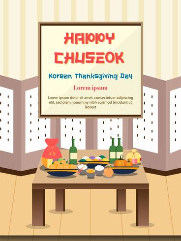 Chuseok Banner Design Hintergrund. vektor