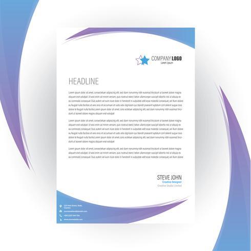 Corporate Business Briefkopf Design vektor