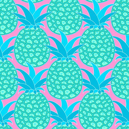 Nahtloses Muster der Ananas. Tropischer Hintergrund. Vektor-illustration Bereiten Sie für Ihr Design, Gruß-Karte vor vektor