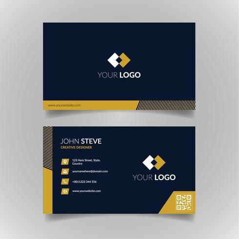 Företags professionell kortmall vektor