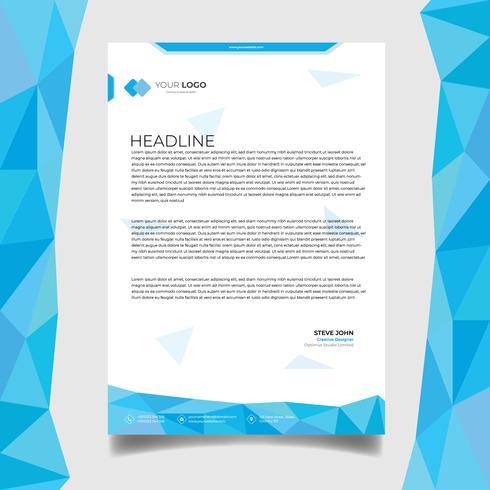 Företagsaffär brevpapper design vektor