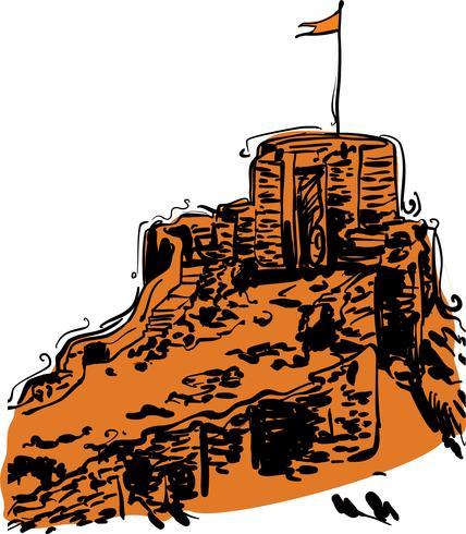 Indisk Fort Vektor Illustration