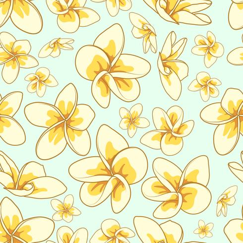Floral element sömlös bakgrund. vektor