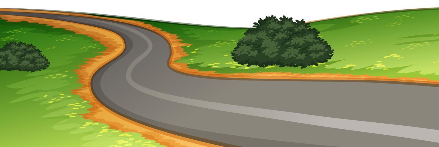 Eine ländliche Straßenszene vektor