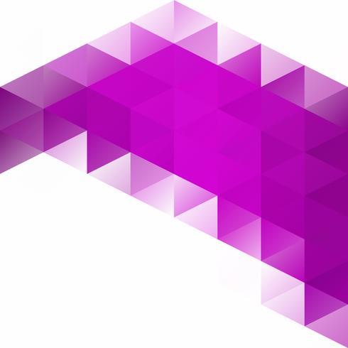 Purpurroter Gitter-Mosaik-Hintergrund, kreative Design-Schablonen vektor