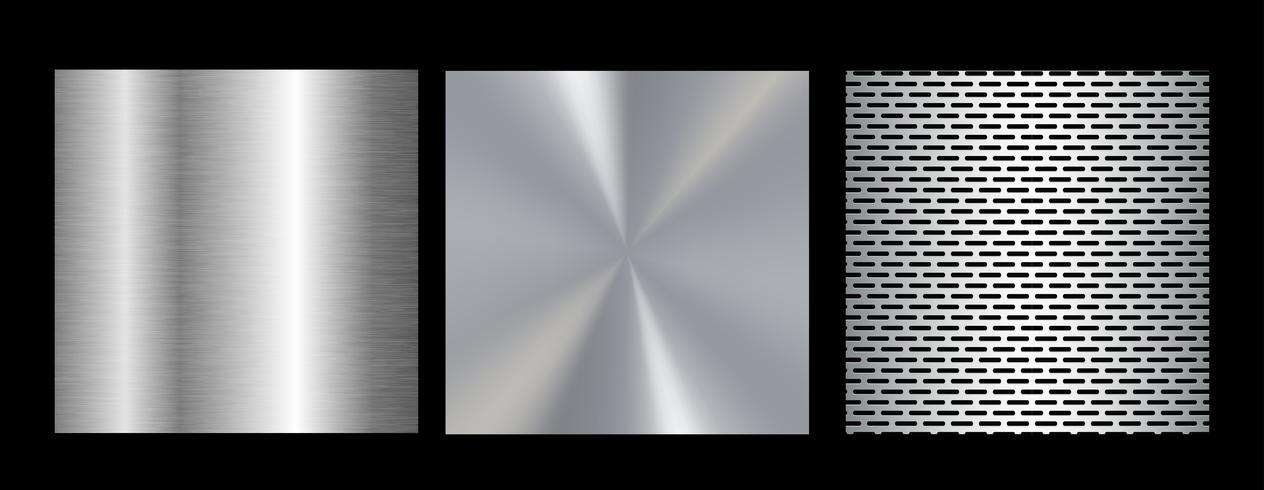 Stor kollektion färgglada gradienter. Metalliska gradienter som består av bakgrunder. Vektor. vektor