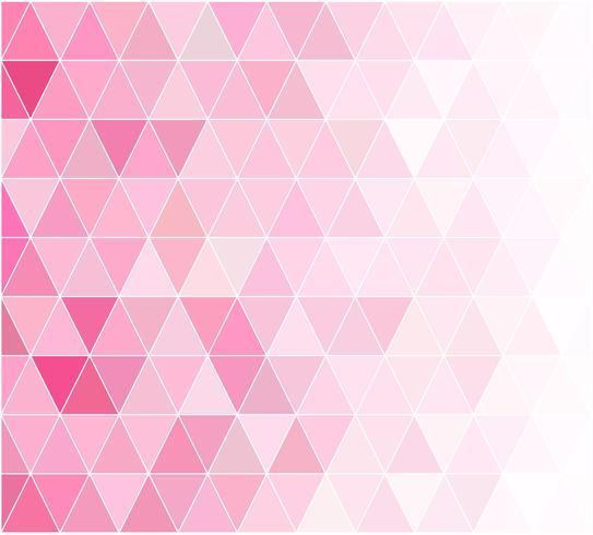 Rosa Gitter-Mosaik-Hintergrund, kreative Design-Schablonen vektor