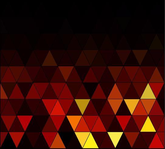 Gelber quadratischer Gitter-Mosaik-Hintergrund, kreative Design-Schablonen vektor