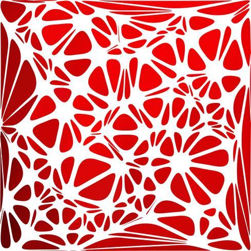 Röd modern stil, kreativa designmallar vektor