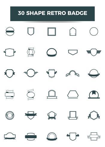 Retro Form Abzeichen Vorlage. Vektor und Illustration