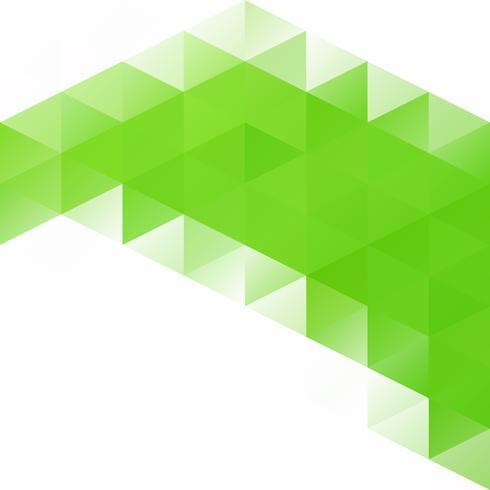 Grüner Gitter-Mosaik-Hintergrund, kreative Design-Schablonen vektor