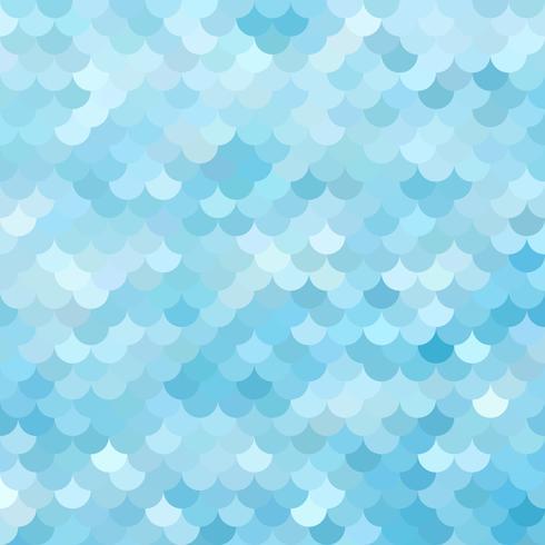 Blått takplattor mönster, kreativa designmallar vektor