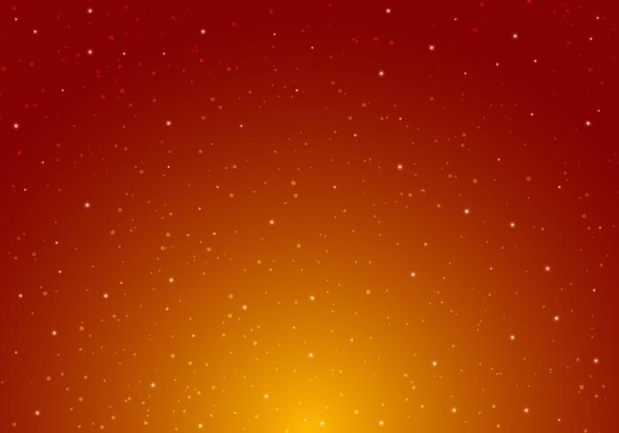 Nachtglänzender sternenklarer nächtlicher Himmel mit Sternuniversum-Raumunendlichkeit und Sternenlicht auf rotem und orange Hintergrund. Galaxie und Planeten im Kosmosmuster. vektor