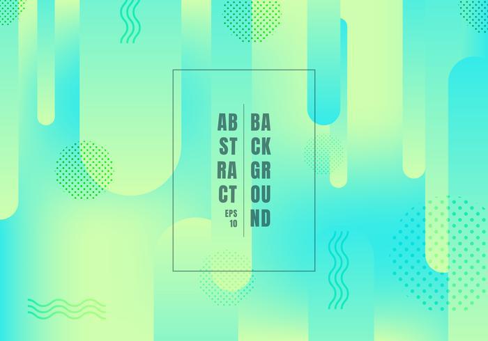 Abstrakta rundade former linjer övergång geometriska pulserande färg grön och blå gradient färger på ljus bakgrund. Dynamiska former komposition trendig stil. vektor