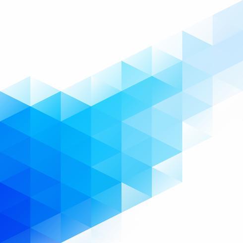 Blauer Gitter-Mosaik-Hintergrund, kreative Design-Schablonen vektor