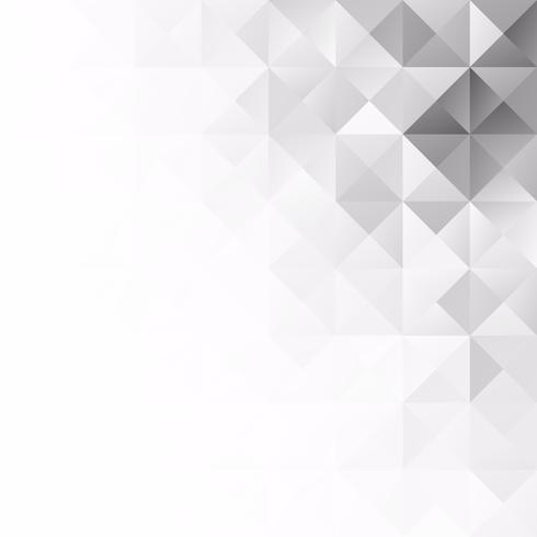 Grå White Grid Mosaic bakgrund, kreativa design mallar vektor
