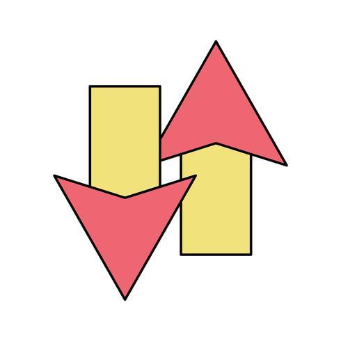 Farbpfeile laden im Prozess-Symbol vektor
