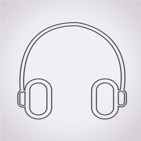 ikon för hörlursymbolsymbol vektor