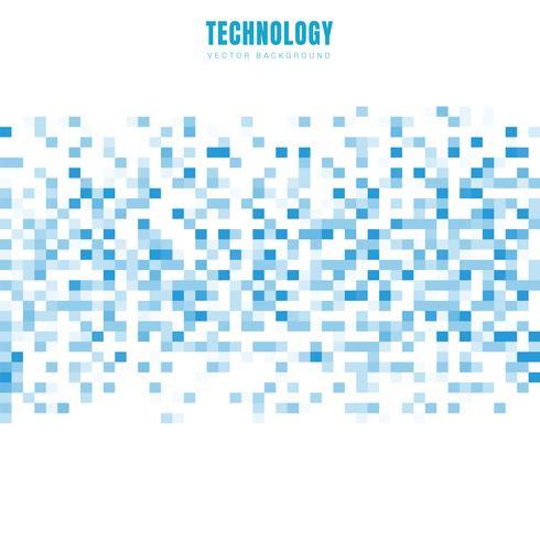 Abstrakt geometriska vita och blå rutor mönster bakgrund och textur med kopia utrymme. Teknisk datastil. Mosaic grid. vektor