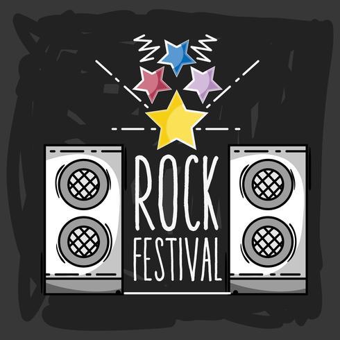 Rock Festival Konzert Musik Event vektor
