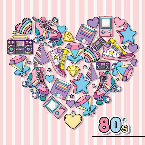 Ich liebe die 80er vektor