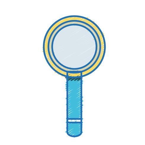 Lupe Werkzeug Objektdesign vektor