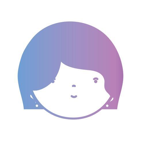 Linie Avatar Frauenkopf mit Frisurendesign vektor