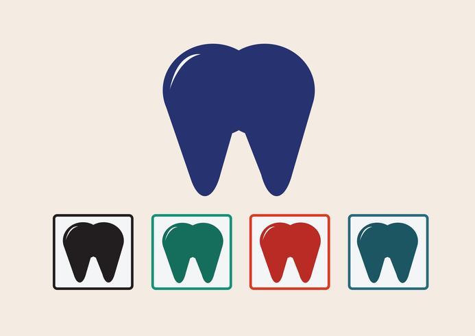 Zahn Symbol Symbol Zeichen vektor