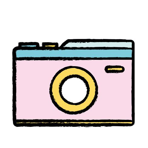 digital kamera för att ta en bildkonst vektor