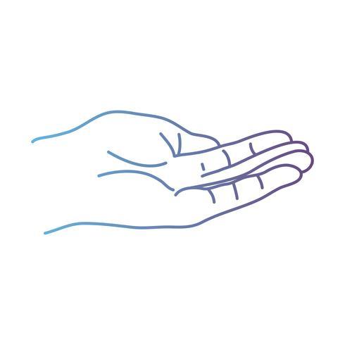 linje person hand med finger och figurer vektor