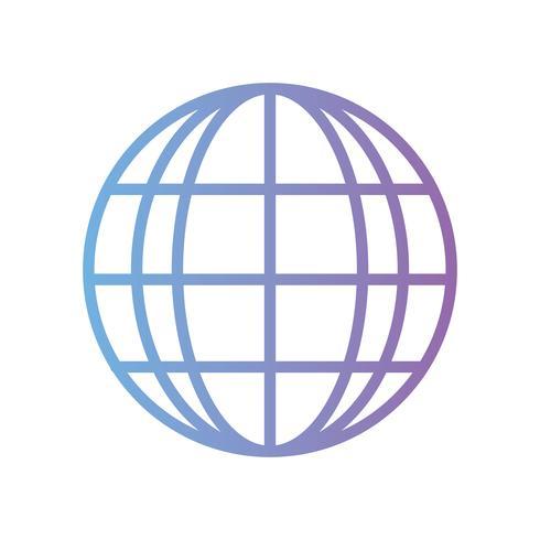 linje global anslutning digital teknik vektor