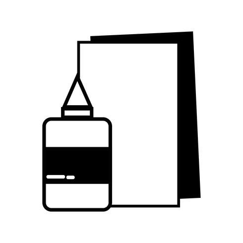 konturlim och kartongredskap till utbildning vektor