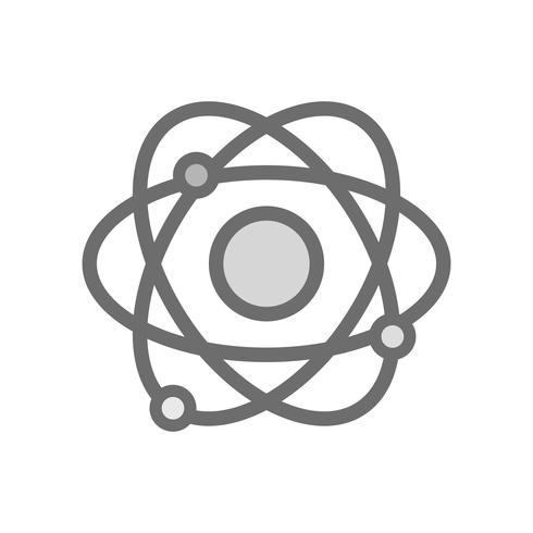 Graustufen-Physik-Orbit-Atom-Chemie-Ausbildung vektor