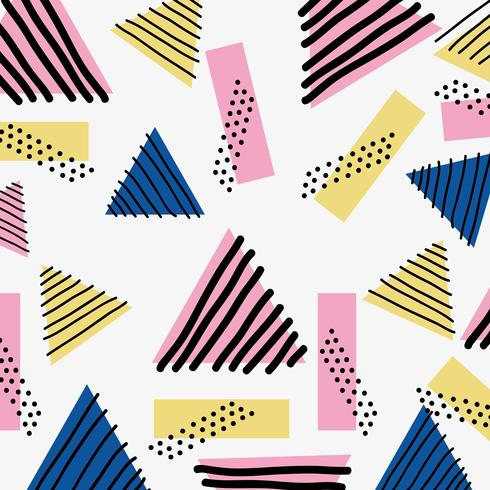 Farbe geometrische Figur Hintergrunddesign vektor