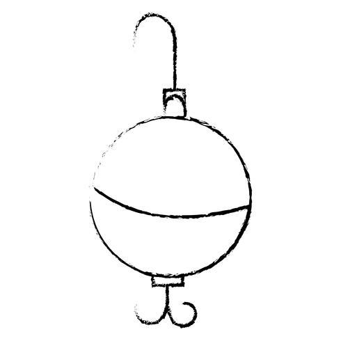 Figur Löffel Fisch Objekt zum Angeln Erholung vektor
