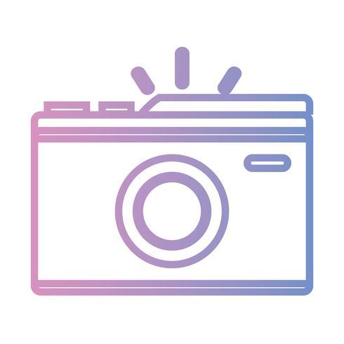 line digital kamera för att ta en bildkonst vektor