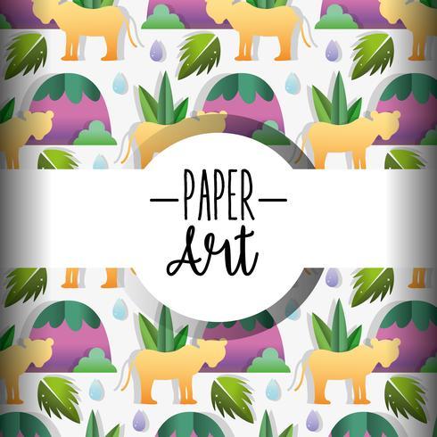 Papierkunst Hintergrund vektor